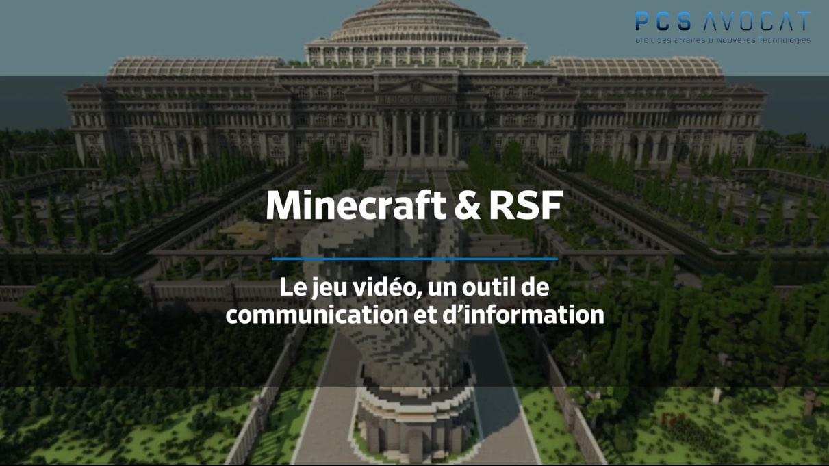 13.03.2020 - RSF & Minecraft le jeu vidéo et l'esport un outil de liberté d'information