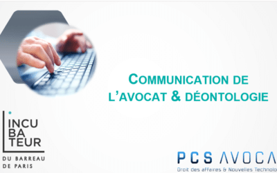 Incubateur du Barreau de Paris – Webinar sur la communication des avocats