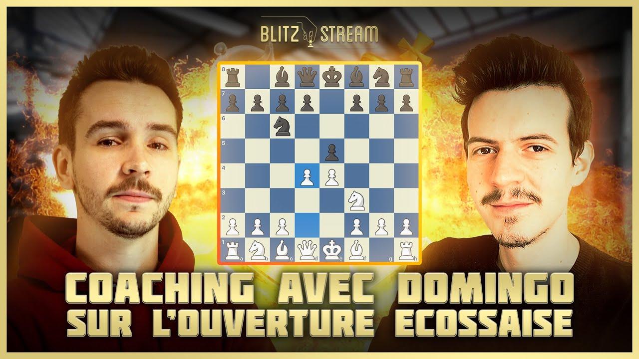 L'influenceur Domingo et Blitzstream proposant des contenus audiovisuels sur le thème des échecs